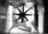 Продувка модели одного из вариантов яхты в аэродинамической трубе