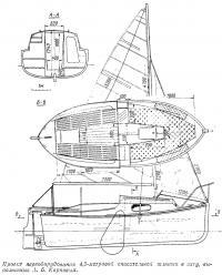 Проект переоборудования 4,5-метровой спасательной шлюпки в яхту