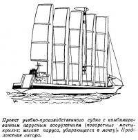 Проект учебно-производственного судна с комбинированным парусным вооружением