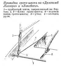 Проводка грота-шкота на «Дрэскомб Логгере» и «Лонгботе»