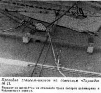 Проводка стаксель-шкотов на советском «Торнадо» №11