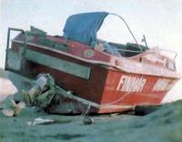 «Псюкопатен-II» выброшенный волнами на берег Франции