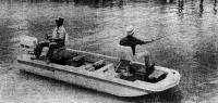 Раболовная лодка с тримаранными обводами