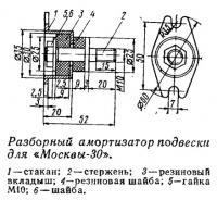 Разборный амортизатор подвески для «Москвы-30»