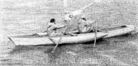 Разборный гребно-парусный тримаран из легкого сплава