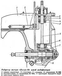 Разрез редуктора мотора «Вихрь»