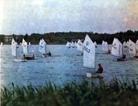 Регата «Оптимист» на озере Харку в июне 1982 года