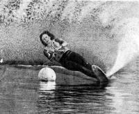 Рекордсменка страны и бронзовый призер по слалому Н. Калитенко на дистанции