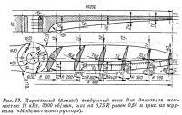 Рис. 13. Деревянный (береза) воздушный винт