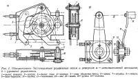 Рис. 1. Однорычажное дистанционное управление газом и реверсом