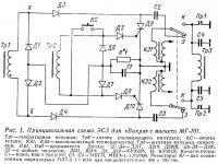Рис. 1. Принципиальная схема ЭСЗ для «Вихря» с магнето МГ-101