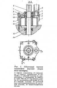 Рис. 1. Сборочный чертеж шариковой верхнейопоры вала-шестерни