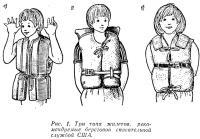 Рис. 1. Три типа жилетов, рекомендуемые береговой спасательной службой США