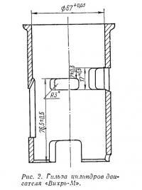 Рис. 2. Гильза цилиндров двигателя «Вихрь-М»