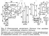 Рис. 2. Конструкция магнитного датчика для магдино МВ-1