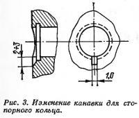 Рис. 3. Изменение канавки для стопорного кольца