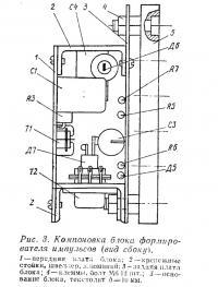 Рис. 3. Компоновка блока формирователя импульсов