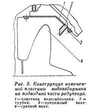 Рис. 3. Конструкция измененной пластины водозаборника