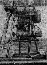 Рис. 3. Винтомоторная установка на морских санях