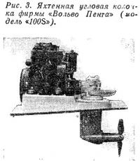 Рис. 3. Яхтенная угловая колонка фирмы «Вольво Пента» (модель «100S»)