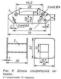 Рис. 4. Детали генераторной катушки