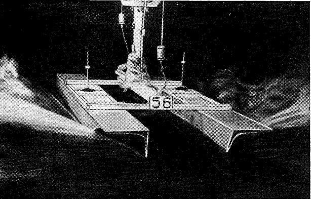 Рис. 4. Одна из моделей серии во время испытаний