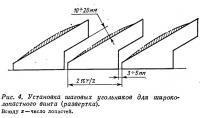 Рис. 4. Установка шаговых угольников для широколопастного винта