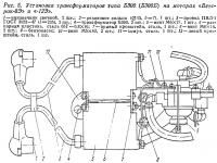 Рис. 5. Установка трансформаторов типа Б300 (Б300Б)