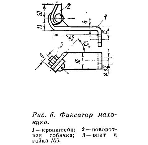 Рис. 6. Фиксатор маховика