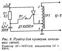 Рис. 6. Прибор для проверки запальных свечей