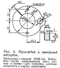 Рис. 6. Прокладка и напорный патрубок