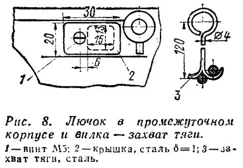 Рис. 8. Лючок в промежуточном корпусе и вилка