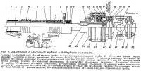 Рис. 9. Валопровод с эластичной муфтой и дейдвудным сальником