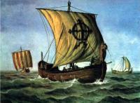 Рисунок художника новгородского судна