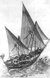Рисунок корабля Синбада-морехода