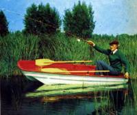 Рыбак на лодке «Онега»