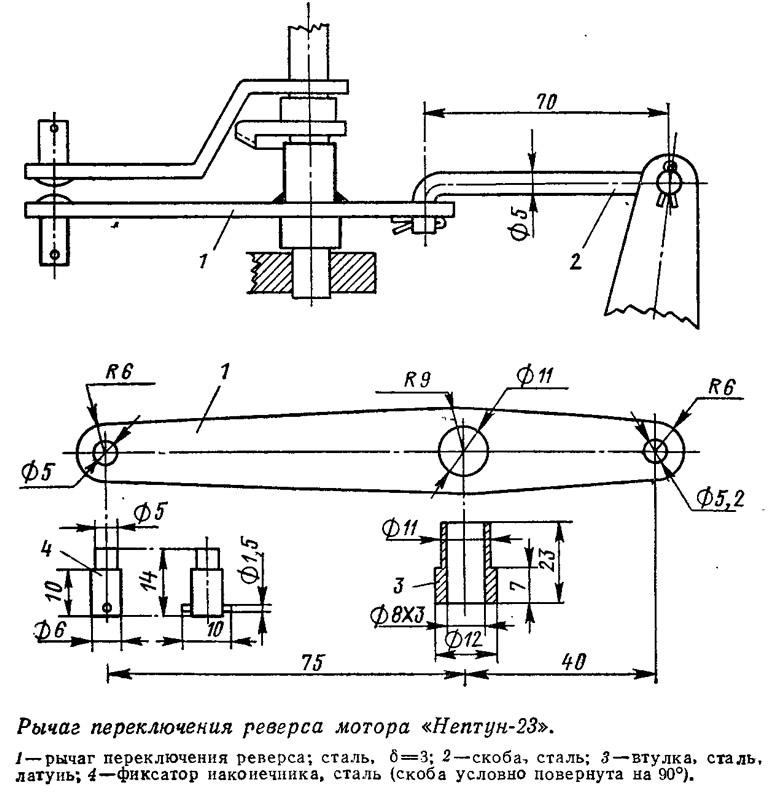реверса мотора «Нептун-23»