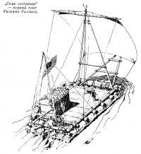 «Семь сестричек» — первый плот Уильяма Уиллиса