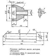 Съемник гребного винта моторов «Ветерок»