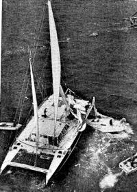 Сенсация на старте — столкновение катамарана «Поль Рикар» с яхтой болельщиков