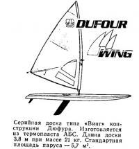 Серийная доска типа «Винг» конструкции Дюфура