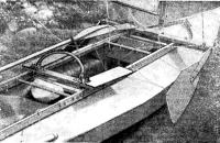 Шарнирные ручка и сиденья для откренивания на байдарке В. В. Зайцева