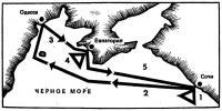 Схема маршрута гонок
