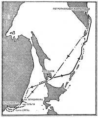 Схема маршрута плавания