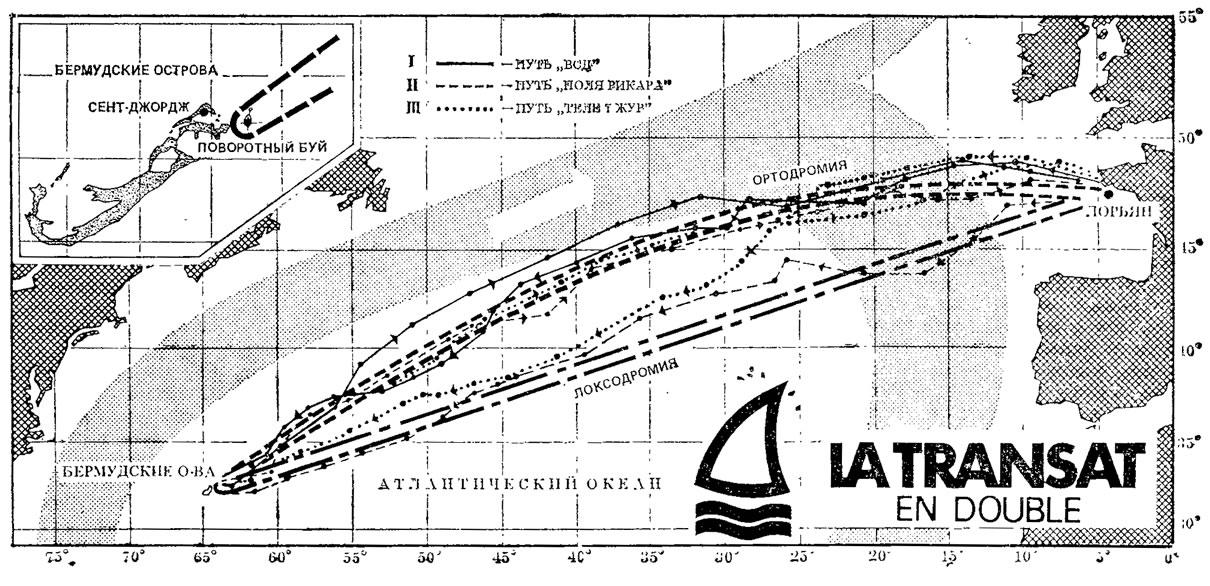 Схема маршрута «Транзат ан дубль» с обозначением пути трех призеров гонки