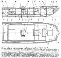 Схема общего расположения рыболовной модели «Сарепта-Р»