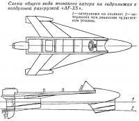 Схема общего вида японского катера на гидролыжах с воздушной разгрузкой «AF-XS»