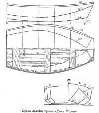 Схема обводов тузика «Джек Шпрот»