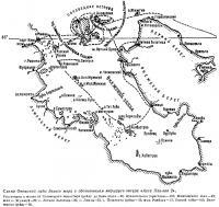 Схема Онежской губы Белого моря с обозначением маршрута