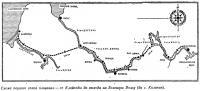 Схема первого этапа плавания от Клайпеды до выхода на Большую Волгу
